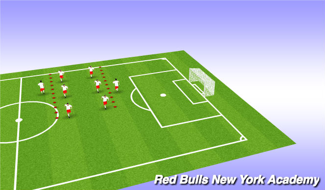 Football/Soccer Session Plan Drill (Colour): Juggling/SAQ