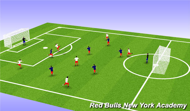 Football/Soccer Session Plan Drill (Colour): Hand Ball with Volley