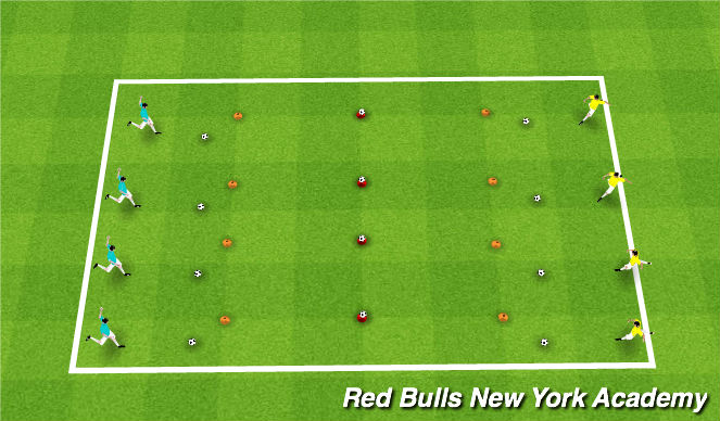 Football/Soccer Session Plan Drill (Colour): Technical Competition