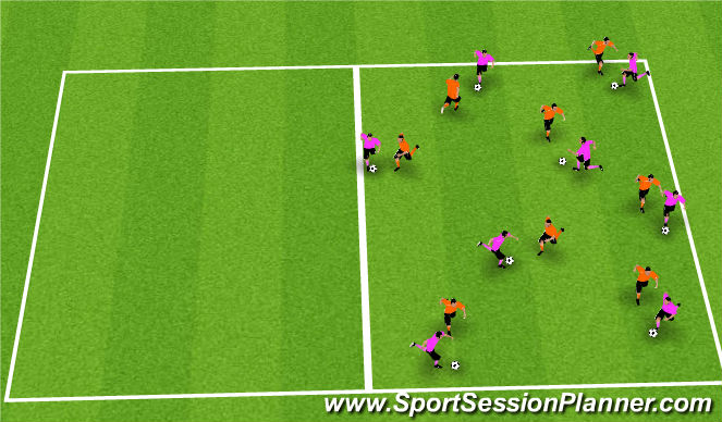 Football/Soccer Session Plan Drill (Colour): Ball Retention