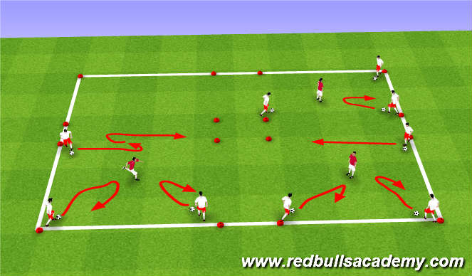 Football/Soccer Session Plan Drill (Colour): Warm-up 2