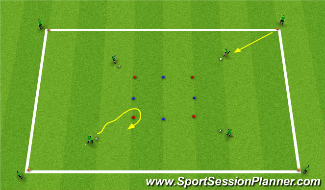 Football/Soccer Session Plan Drill (Colour): Activity 1: Turn Box