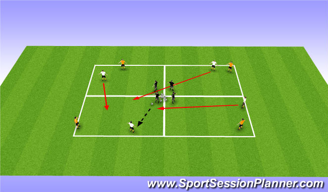 Football/Soccer Session Plan Drill (Colour): Albion Game