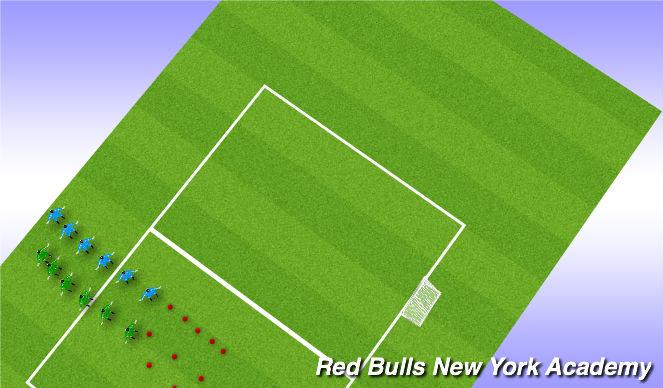 Football/Soccer Session Plan Drill (Colour): Warm up: SAQ