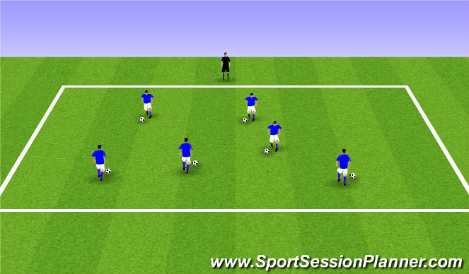 Football/Soccer Session Plan Drill (Colour): ODP Week 4 7:00-8:00