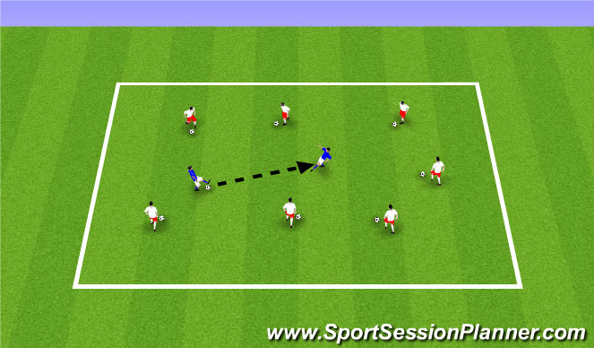 Football/Soccer Session Plan Drill (Colour): ODP Week 4 9:00-10:00