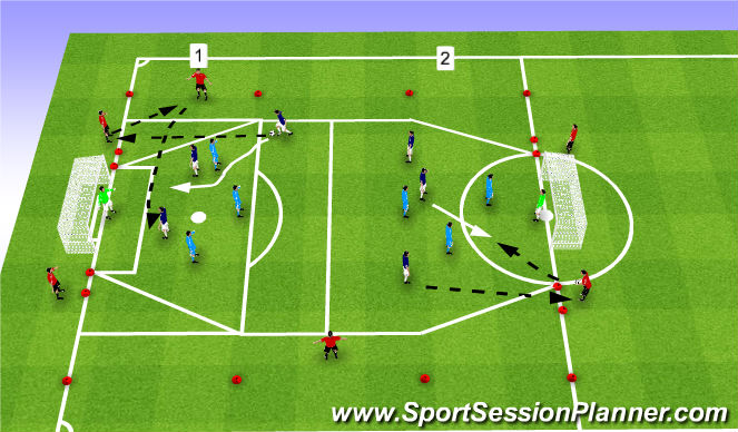 Football/Soccer Session Plan Drill (Colour): PSAM