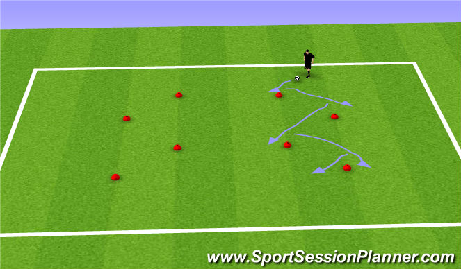 Football/Soccer Session Plan Drill (Colour): W/up and C/Down