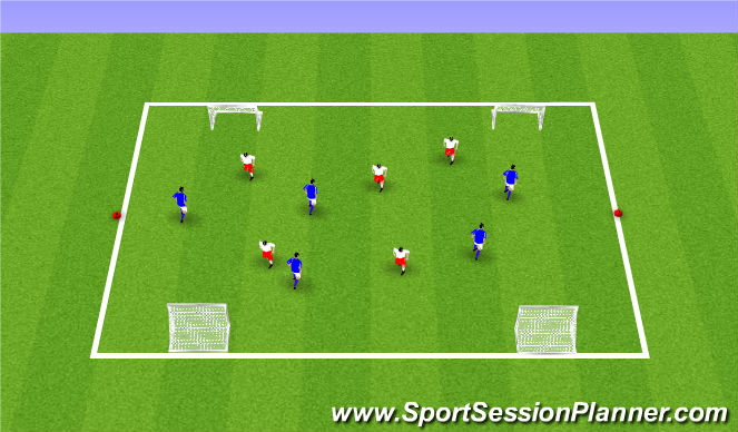 Football/Soccer Session Plan Drill (Colour): ODP Week 11 8:00-9:00