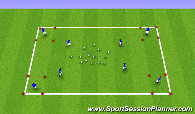 Football/Soccer Session Plan Drill (Colour): Winter ODP Week 1 7:00-8:00