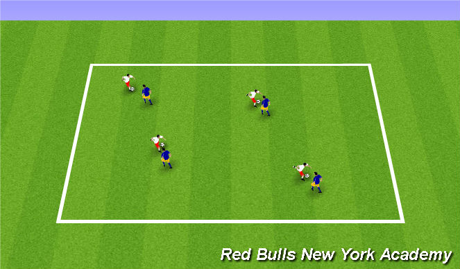 Football/Soccer Session Plan Drill (Colour): Technical- Body Shape