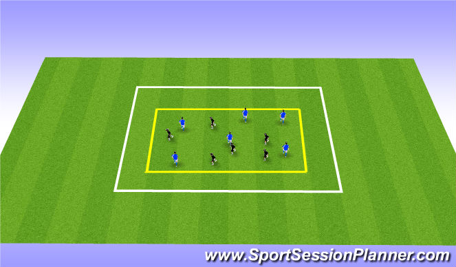 Football/Soccer Session Plan Drill (Colour): Passing: Movement Off the Ball