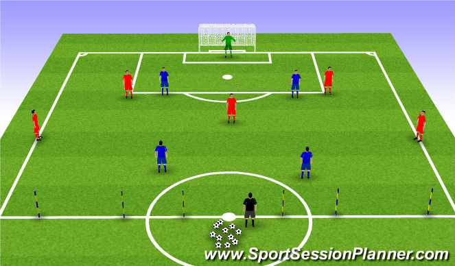 Football/Soccer Session Plan Drill (Colour): Changes/modifications