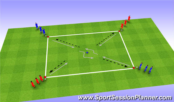 Football/Soccer Session Plan Drill (Colour): Skills - Ball control 2
