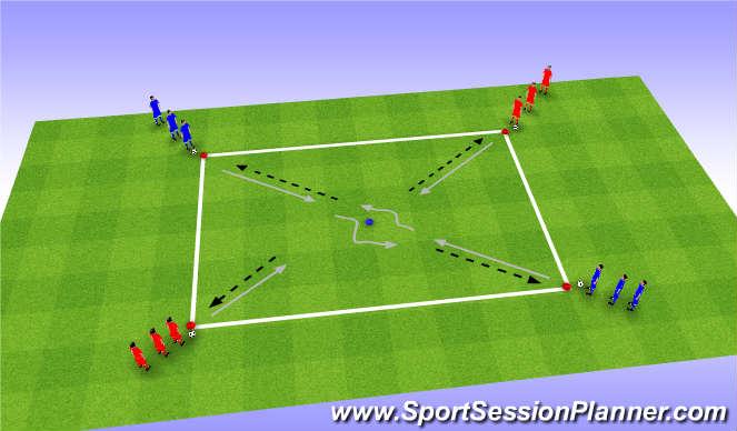 Football/Soccer Session Plan Drill (Colour): Skills - Ball control 2