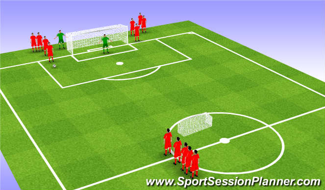 Football/Soccer Session Plan Drill (Colour): 2v1 Small Sided Game