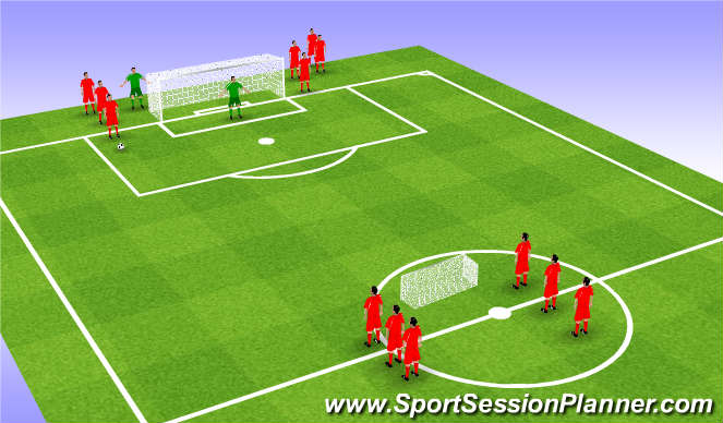 Football/Soccer Session Plan Drill (Colour): 2 v 2 small sided game