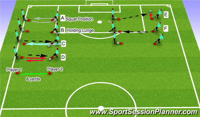 Football/Soccer Session Plan Drill (Colour): Fitness w/ a ball