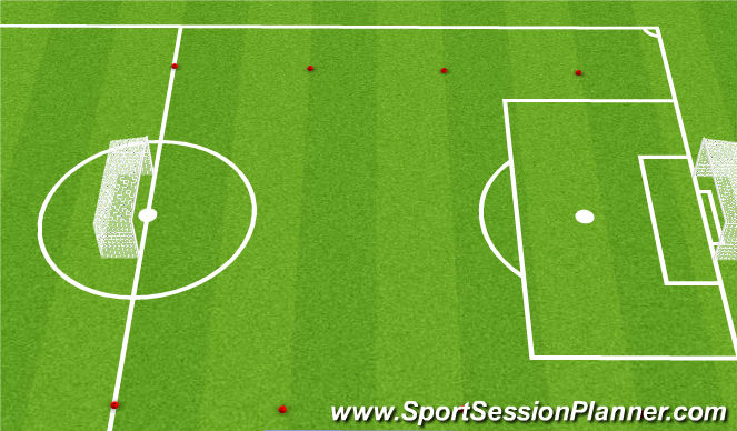 Football/Soccer Session Plan Drill (Colour): 7v7 Free