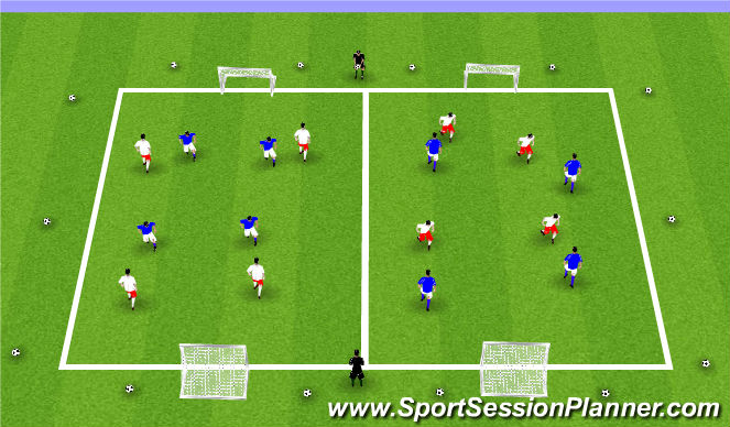 Football/Soccer Session Plan Drill (Colour): ODP Week 11 9:00-10:00