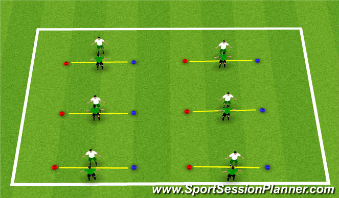 Football/Soccer Session Plan Drill (Colour): Activity 1: 1v1 Turns and Fakes