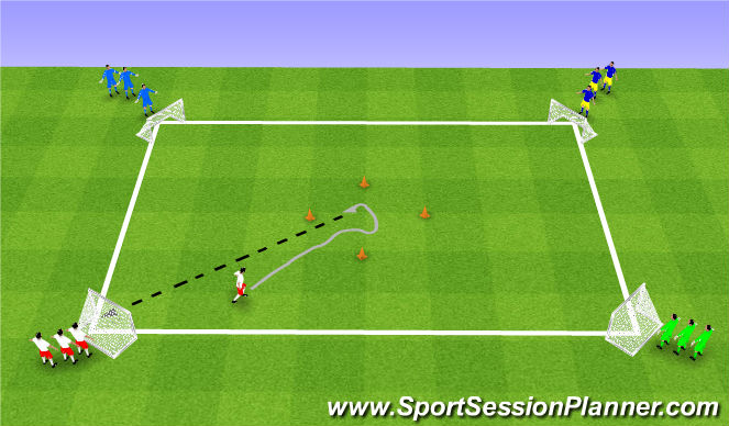 Football/Soccer Session Plan Drill (Colour): Week 11