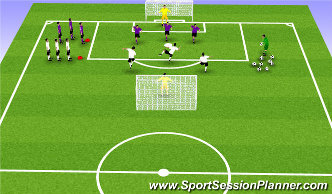 Football/Soccer Session Plan Drill (Colour): Animal Ball
