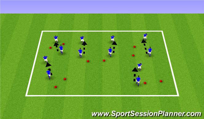 Football/Soccer Session Plan Drill (Colour): ODP Week 1 Summer 2017 6:00-7:00