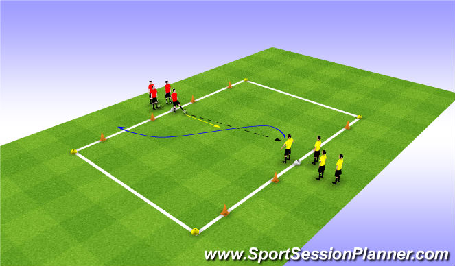 Football/Soccer Session Plan Drill (Colour): 1:1