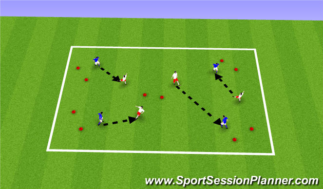 Football/Soccer Session Plan Drill (Colour): Winter ODP Week 1 8:00-9:00