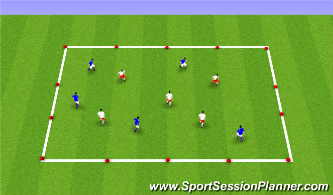 Football/Soccer Session Plan Drill (Colour): Winter ODP Week 1 9:00-10:00