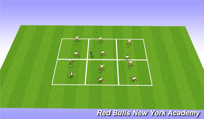 Football/Soccer Session Plan Drill (Colour): Physical Lateracy - Rhythmic Ball Mastery