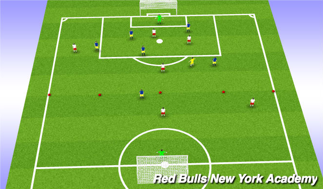 Football/Soccer Session Plan Drill (Colour): 7v7 plus 1