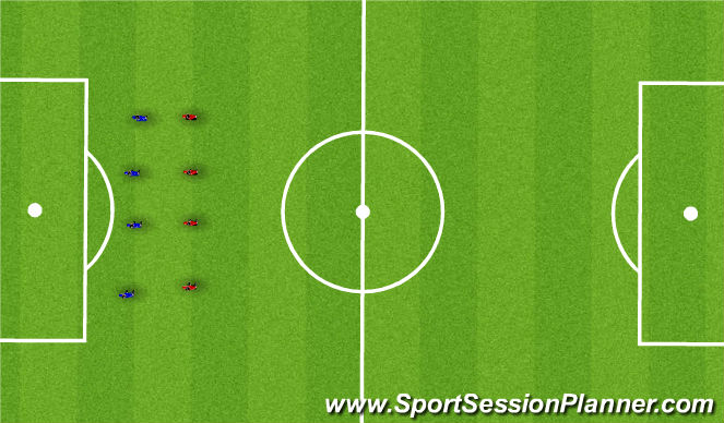 Football/Soccer Session Plan Drill (Colour): Fitness with and without the ball