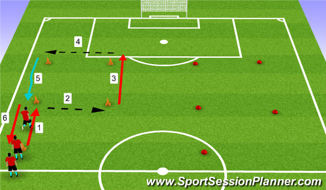 Football/Soccer Session Plan Drill (Colour): Fitness without the ball