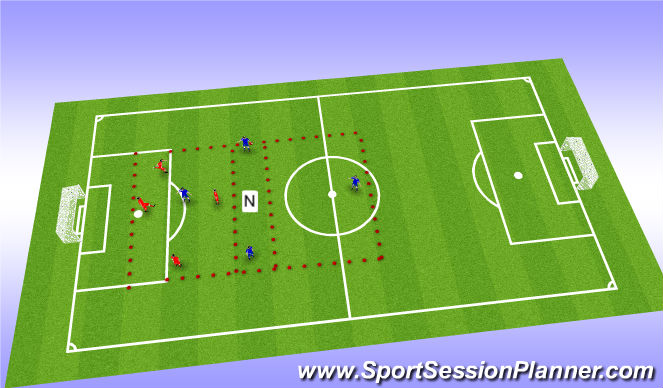Football/Soccer Session Plan Drill (Colour): Tactical Application