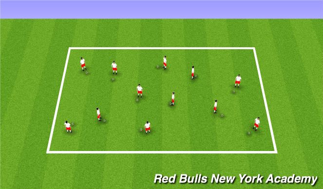 Football/Soccer Session Plan Drill (Colour): Mess and Skill Moves