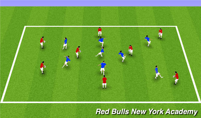 Football/Soccer Session Plan Drill (Colour): Volley Warm Up
