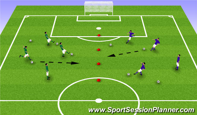 Football/Soccer Session Plan Drill (Colour): Clean the Backyard