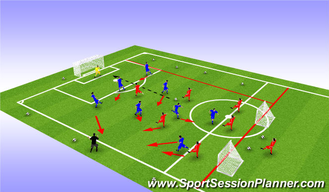 Football/Soccer Session Plan Drill (Colour): Dispersal