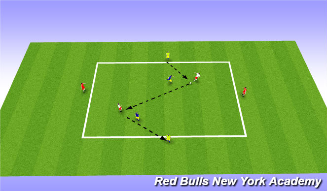Football/Soccer Session Plan Drill (Colour): Small sided 2: 2v2