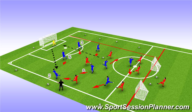 Football/Soccer Session Plan Drill (Colour): Support and Mobility