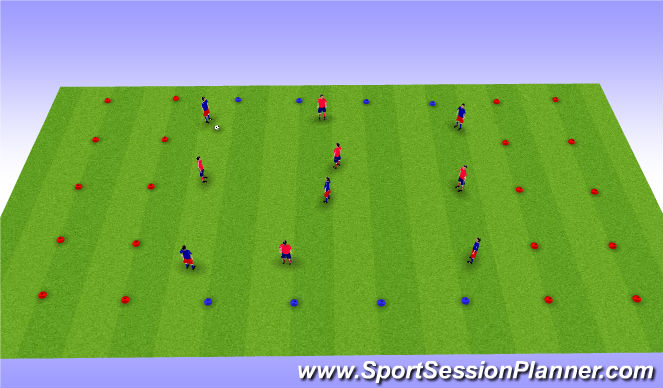Football/Soccer Session Plan Drill (Colour): Endzones