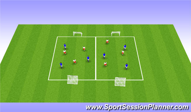 Football/Soccer Session Plan Drill (Colour): ODP Week 5 7:00-8:00