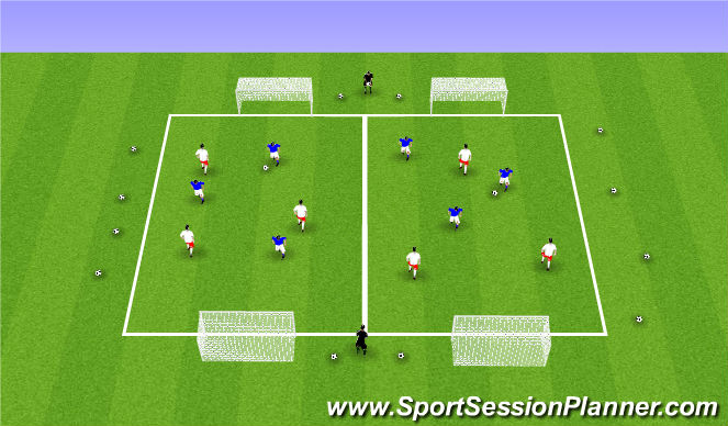 Football/Soccer Session Plan Drill (Colour): Week 3 ODP 7:00-8:00