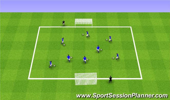 Football/Soccer Session Plan Drill (Colour): ODP Week 9 1st session
