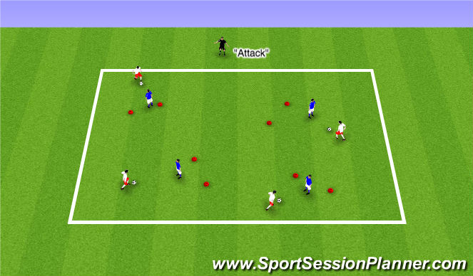 Football/Soccer Session Plan Drill (Colour): ODP Week 8 7:00-8:00