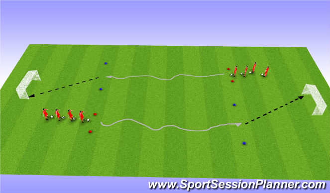 Football/Soccer Session Plan Drill (Colour): Shooting technical
