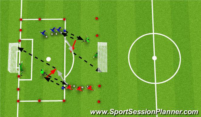 Football/Soccer Session Plan Drill (Colour): Light Opposition