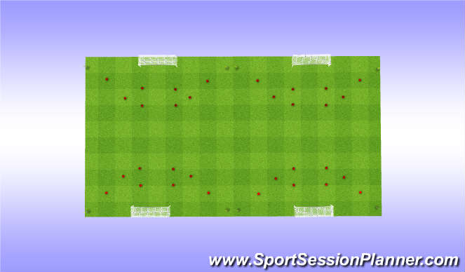 Football/Soccer Session Plan Drill (Colour): 4-6 team shooting prog.